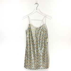 Forever 21 Gold and Silver Sequin Cocktail Dress